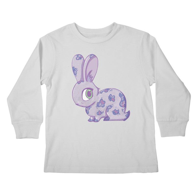 Brave Little Bunny Kids Longsleeve T-Shirt by VanillaKirsty's Artist Shop