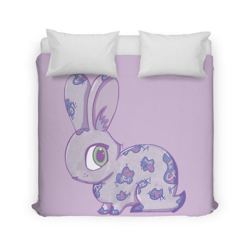 Brave Little Bunny Home Duvet by VanillaKirsty's Artist Shop