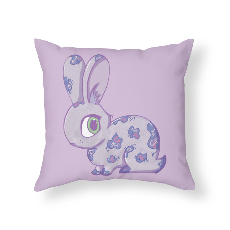 Brave Little Bunny Home Throw Pillow by VanillaKirsty's Artist Shop