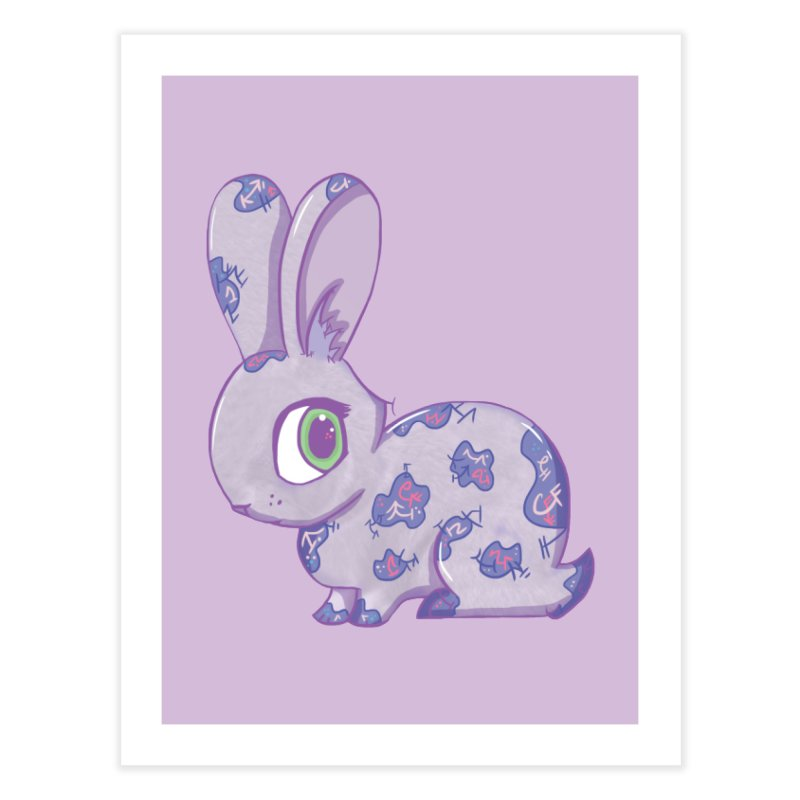 Brave Little Bunny Home Fine Art Print by VanillaKirsty's Artist Shop