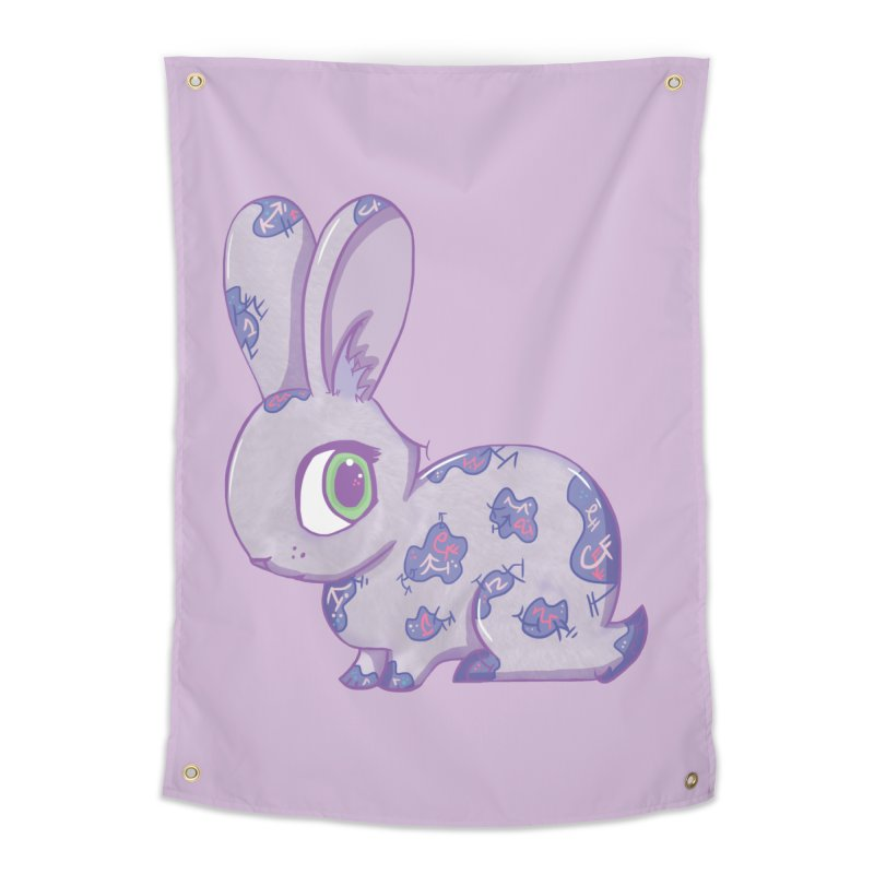 Brave Little Bunny Home Tapestry by VanillaKirsty's Artist Shop