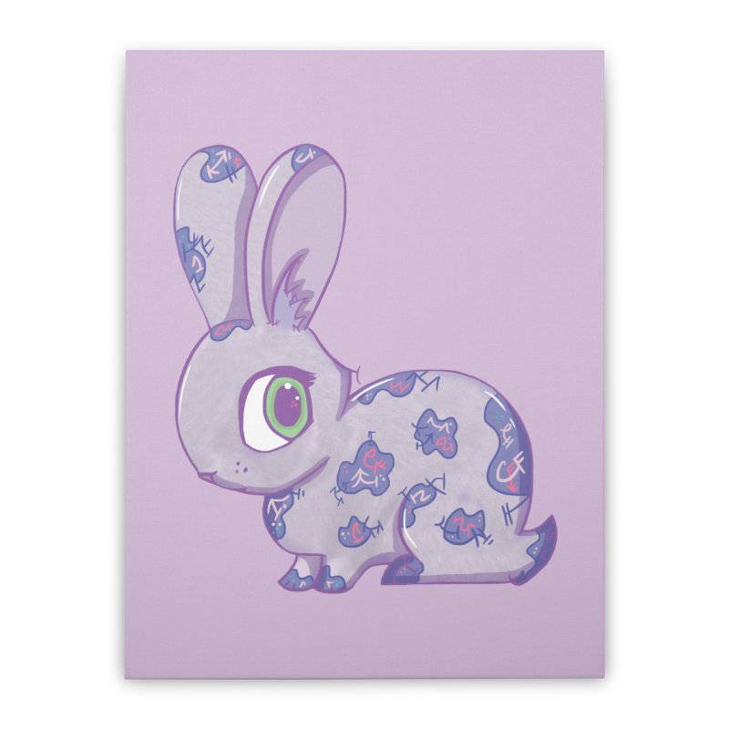 Brave Little Bunny Home Stretched Canvas by VanillaKirsty's Artist Shop