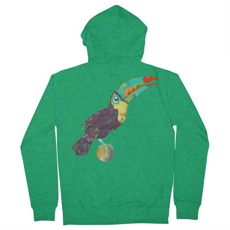 Toucan Can Do It!  Men's Zip-Up Hoody by VanillaKirsty's Artist Shop
