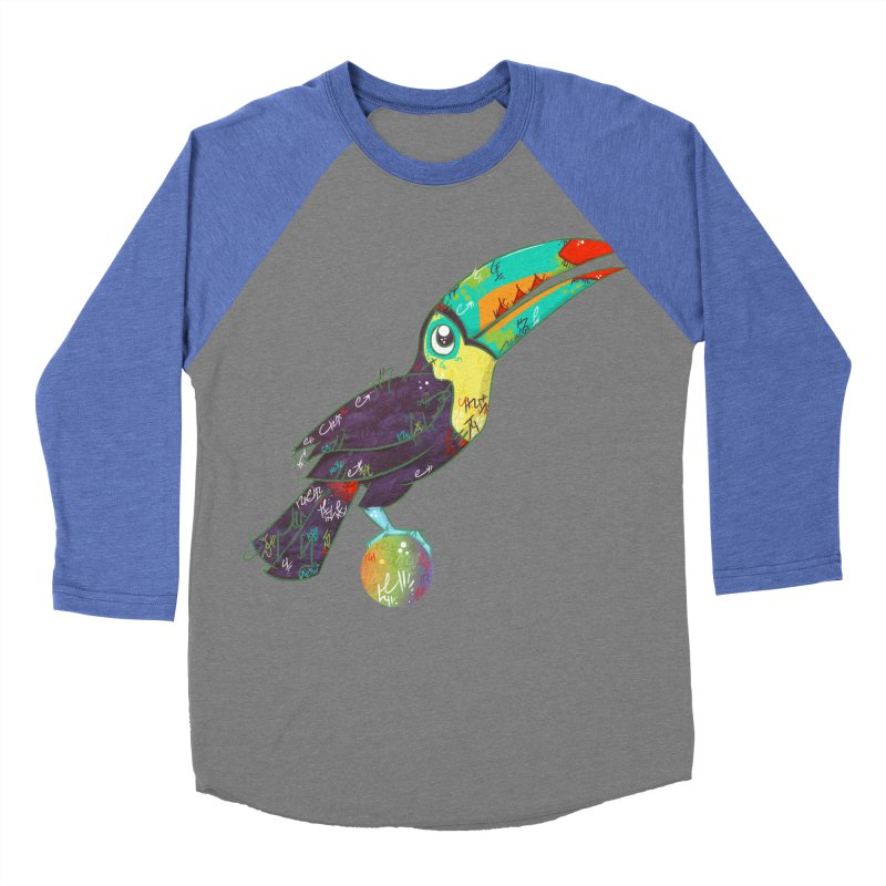 Toucan Can Do It!  Men's Baseball Triblend T-Shirt by VanillaKirsty's Artist Shop