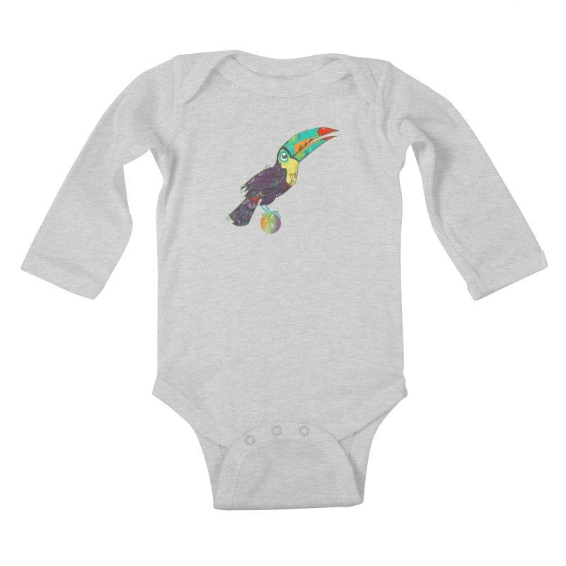 Toucan Can Do It!  Kids Baby Longsleeve Bodysuit by VanillaKirsty's Artist Shop