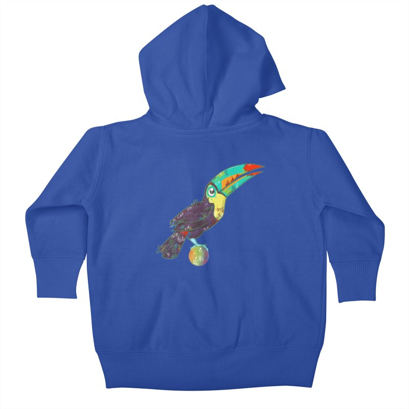 Toucan Can Do It!  Kids Baby Zip-Up Hoody by VanillaKirsty's Artist Shop