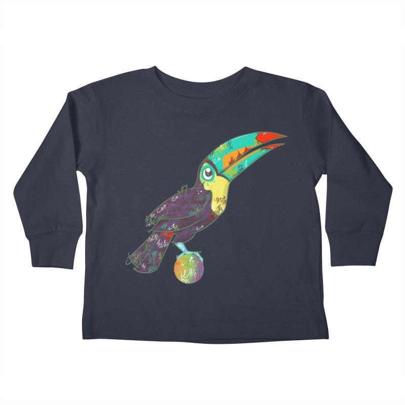 Toucan Can Do It!  Kids Toddler Longsleeve T-Shirt by VanillaKirsty's Artist Shop