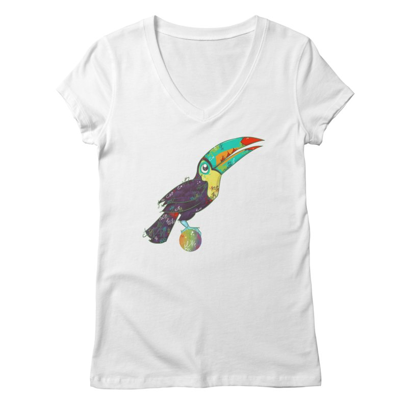 Toucan Can Do It!  Women's V-Neck by VanillaKirsty's Artist Shop