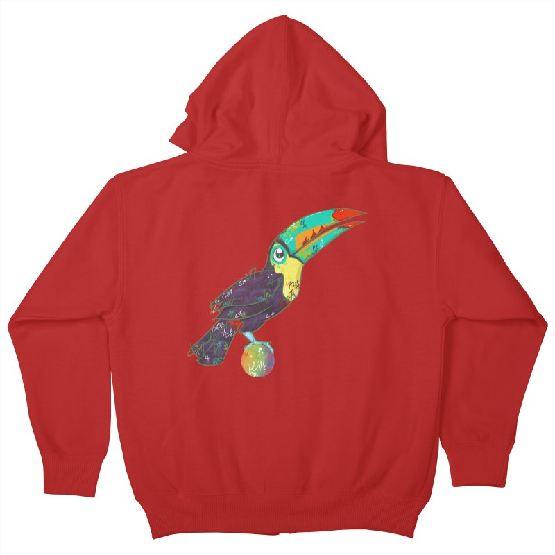 Toucan Can Do It!  Kids Zip-Up Hoody by VanillaKirsty's Artist Shop