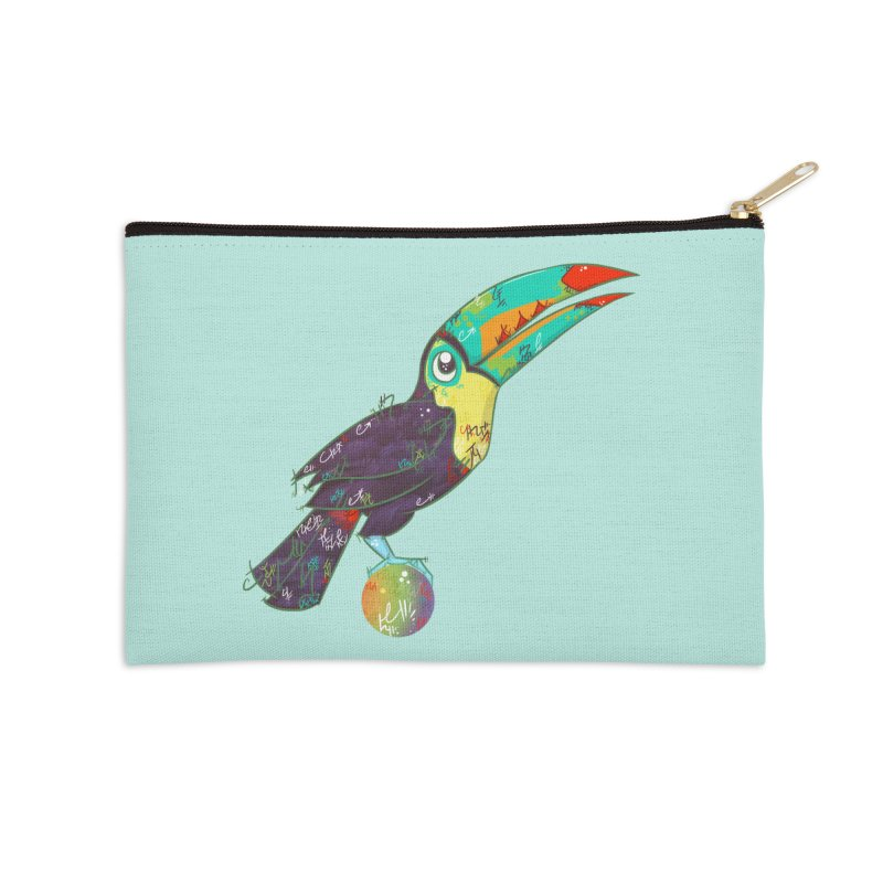 Toucan Can Do It!  Accessories Zip Pouch by VanillaKirsty's Artist Shop