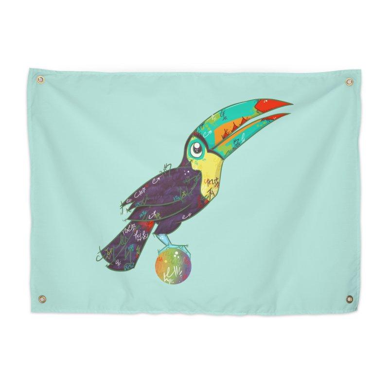 Toucan Can Do It!  Home Tapestry by VanillaKirsty's Artist Shop