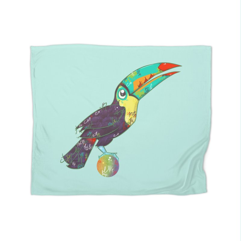 Toucan Can Do It!  Home Blanket by VanillaKirsty's Artist Shop