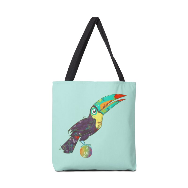 Toucan Can Do It!  Accessories Bag by VanillaKirsty's Artist Shop