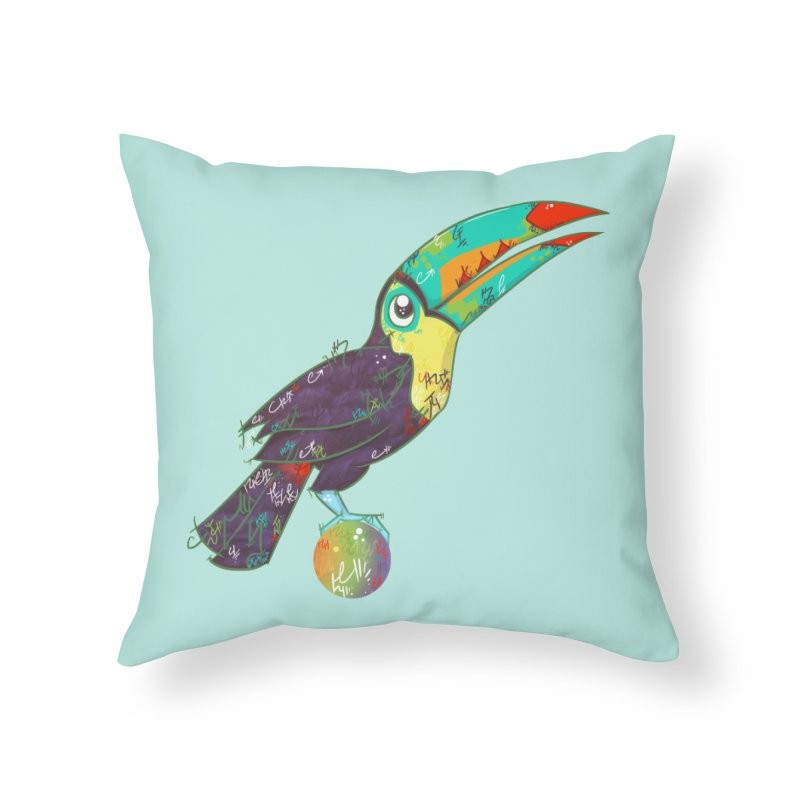 Toucan Can Do It!  Home Throw Pillow by VanillaKirsty's Artist Shop