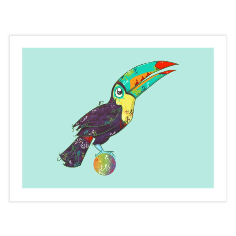Toucan Can Do It!  Home Fine Art Print by VanillaKirsty's Artist Shop