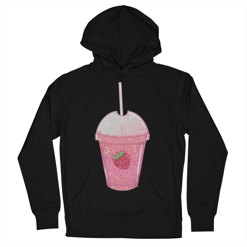 Sweetest Strawberry Smoothie Women's Pullover Hoody by VanillaKirsty's Artist Shop
