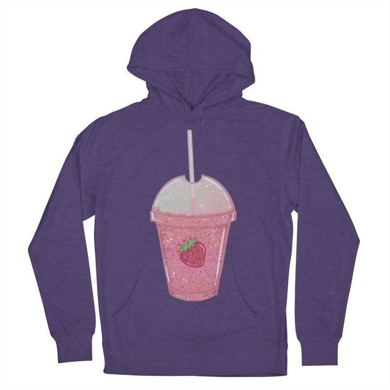 Sweetest Strawberry Smoothie Men's Pullover Hoody by VanillaKirsty's Artist Shop