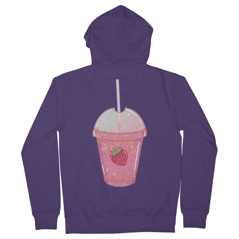 Sweetest Strawberry Smoothie Women's Zip-Up Hoody by VanillaKirsty's Artist Shop