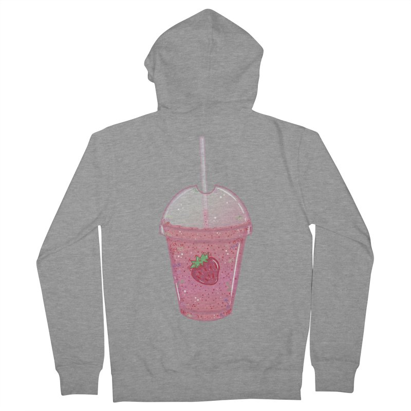 Sweetest Strawberry Smoothie Men's Zip-Up Hoody by VanillaKirsty's Artist Shop