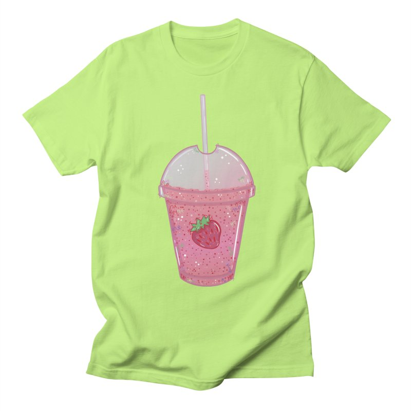 Sweetest Strawberry Smoothie Men's T-Shirt by VanillaKirsty's Artist Shop