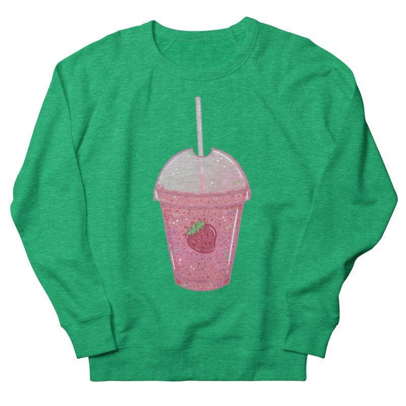 Sweetest Strawberry Smoothie Men's Sweatshirt by VanillaKirsty's Artist Shop