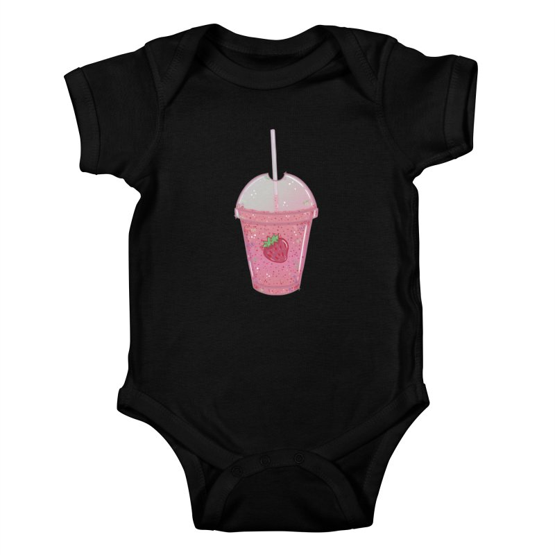 Sweetest Strawberry Smoothie Kids Baby Bodysuit by VanillaKirsty's Artist Shop