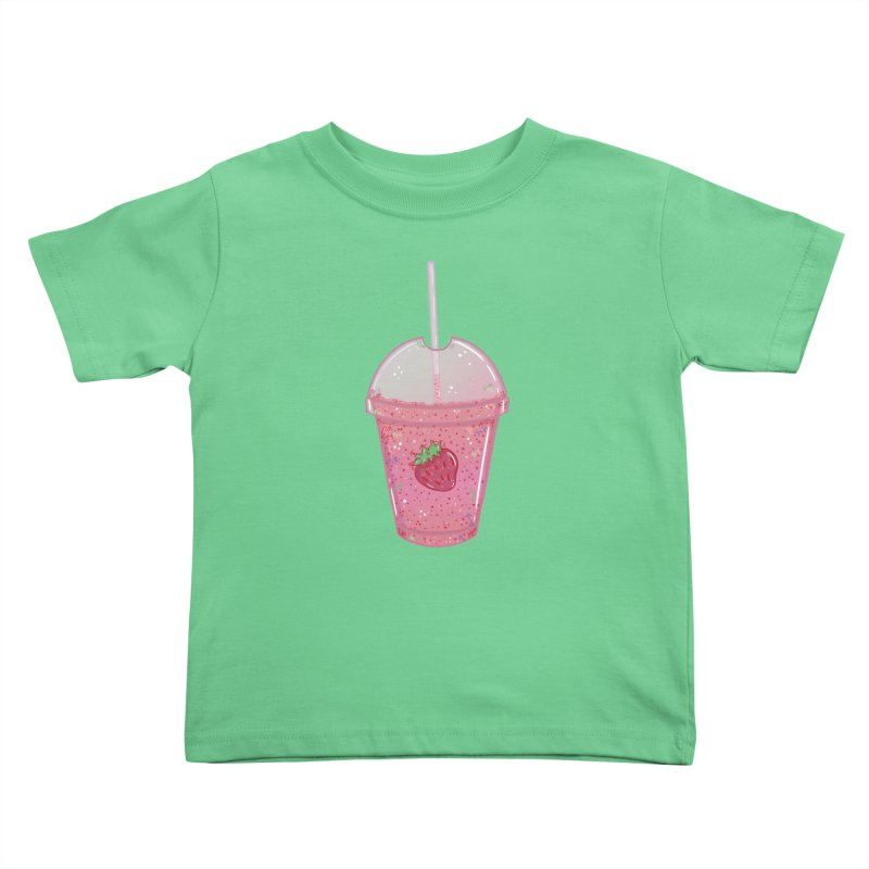 Sweetest Strawberry Smoothie Kids Toddler T-Shirt by VanillaKirsty's Artist Shop