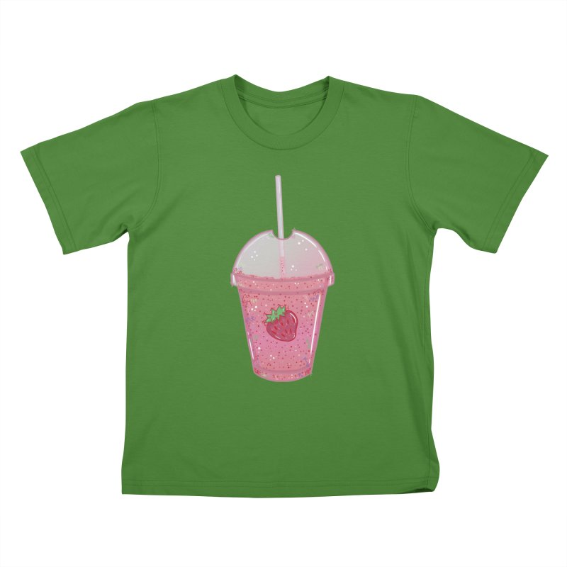 Sweetest Strawberry Smoothie Kids T-shirt by VanillaKirsty's Artist Shop