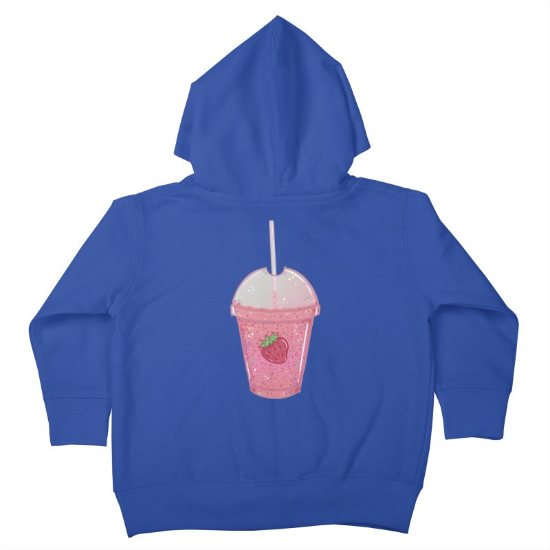 Sweetest Strawberry Smoothie Kids Toddler Zip-Up Hoody by VanillaKirsty's Artist Shop