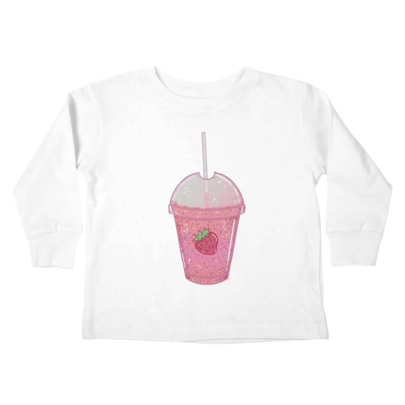 Sweetest Strawberry Smoothie Kids Toddler Longsleeve T-Shirt by VanillaKirsty's Artist Shop