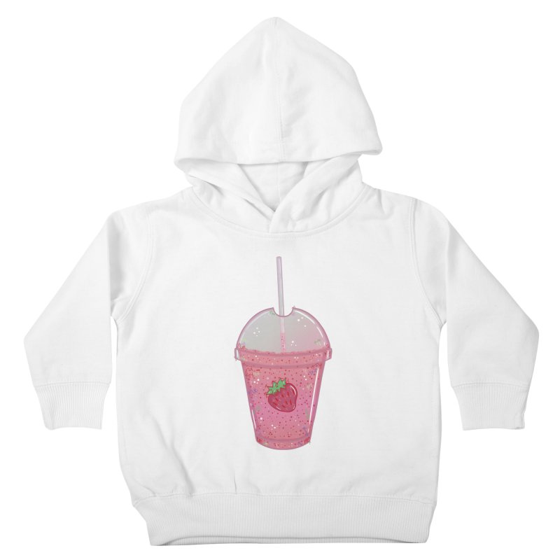 Sweetest Strawberry Smoothie Kids Toddler Pullover Hoody by VanillaKirsty's Artist Shop
