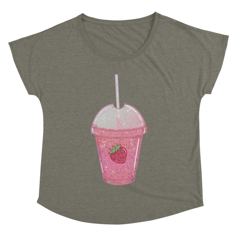 Sweetest Strawberry Smoothie Women's Dolman by VanillaKirsty's Artist Shop