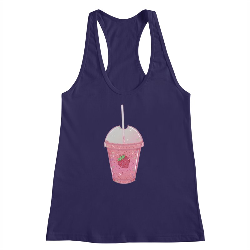 Sweetest Strawberry Smoothie Women's Racerback Tank by VanillaKirsty's Artist Shop