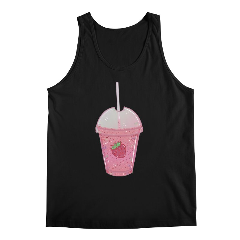 Sweetest Strawberry Smoothie Men's Tank by VanillaKirsty's Artist Shop