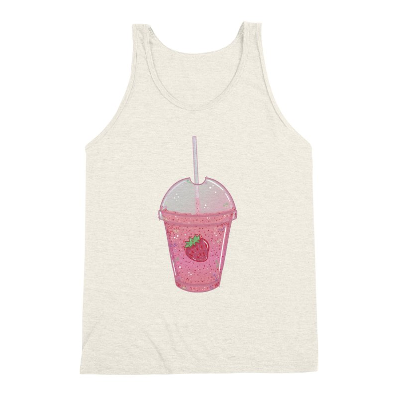 Sweetest Strawberry Smoothie Men's Triblend Tank by VanillaKirsty's Artist Shop