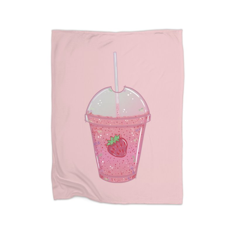 Sweetest Strawberry Smoothie Home Blanket by VanillaKirsty's Artist Shop