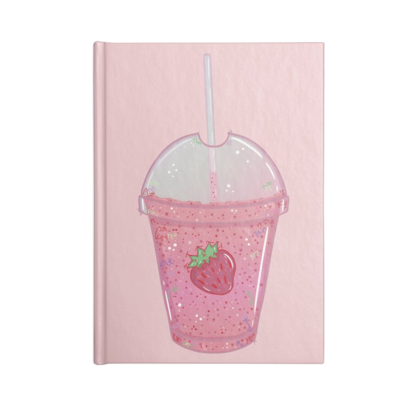 Sweetest Strawberry Smoothie Accessories Notebook by VanillaKirsty's Artist Shop