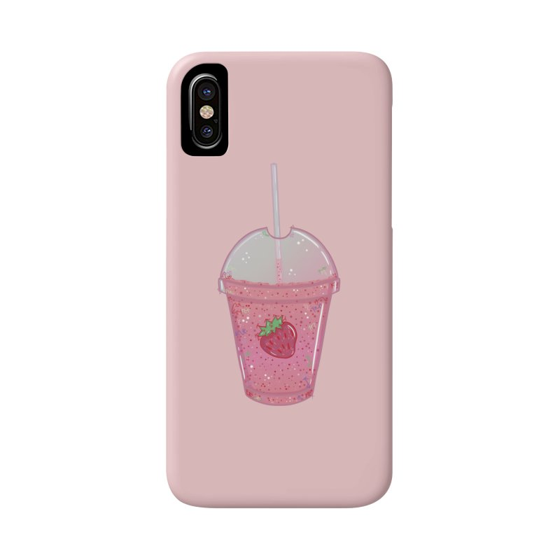 Sweetest Strawberry Smoothie Accessories Phone Case by VanillaKirsty's Artist Shop