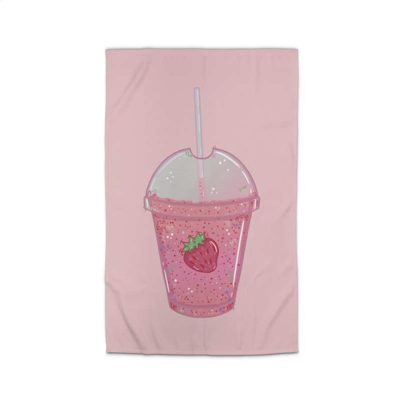 Sweetest Strawberry Smoothie Home Rug by VanillaKirsty's Artist Shop