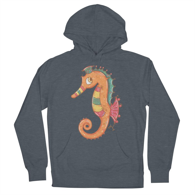Sparkly Little Seahorse Men's Pullover Hoody by VanillaKirsty's Artist Shop