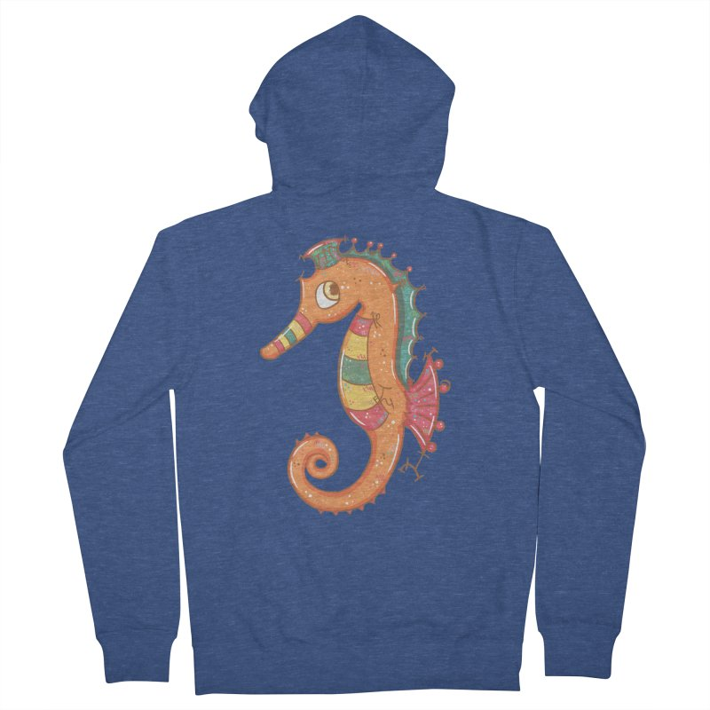 Sparkly Little Seahorse Men's Zip-Up Hoody by VanillaKirsty's Artist Shop