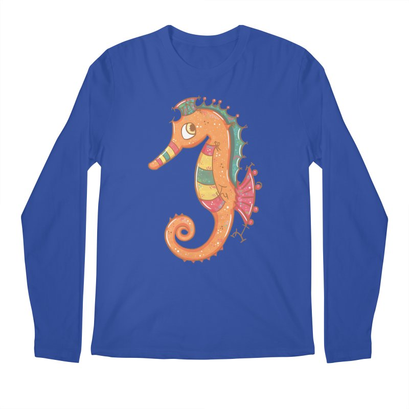 Sparkly Little Seahorse Men's Longsleeve T-Shirt by VanillaKirsty's Artist Shop