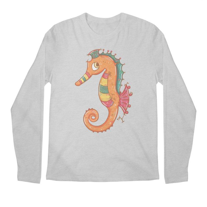 Sparkly Little Seahorse Men's Longsleeve T-Shirt by VanillaKirsty's Artist Shop
