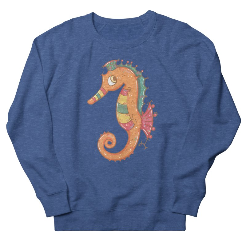 Sparkly Little Seahorse Women's Sweatshirt by VanillaKirsty's Artist Shop