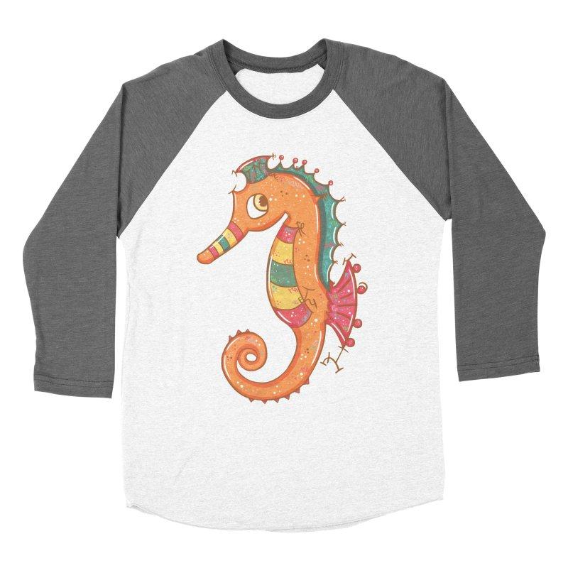 Sparkly Little Seahorse Women's Baseball Triblend T-Shirt by VanillaKirsty's Artist Shop