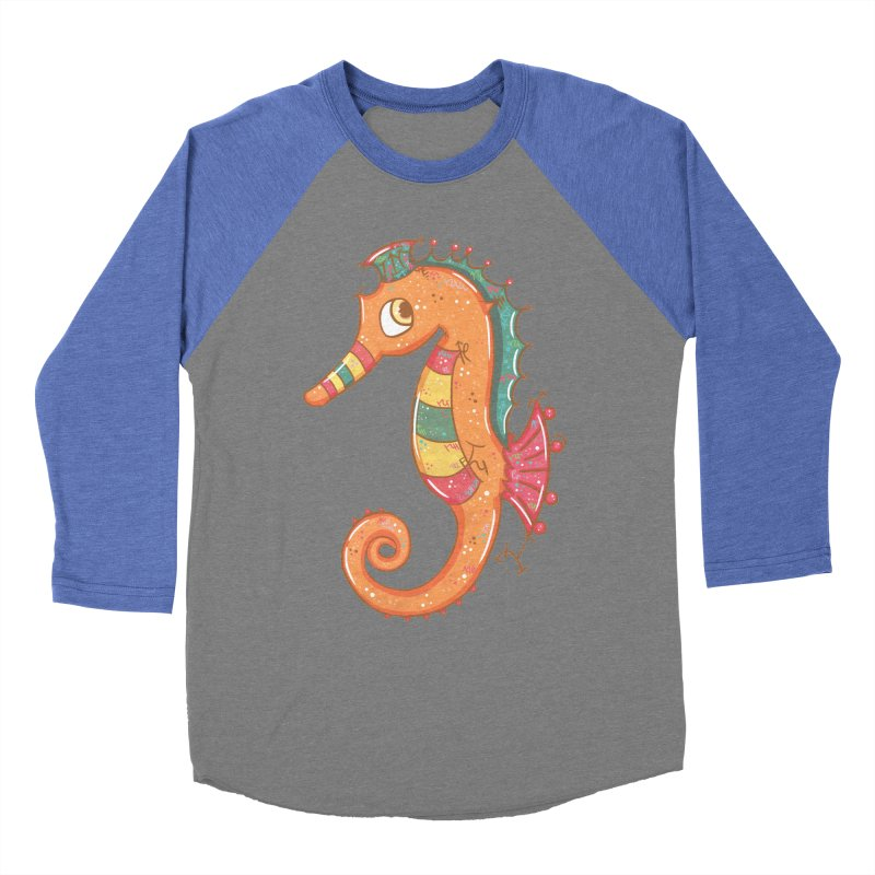 Sparkly Little Seahorse Women's Baseball Triblend T-Shirt by VanillaKirsty's Artist Shop