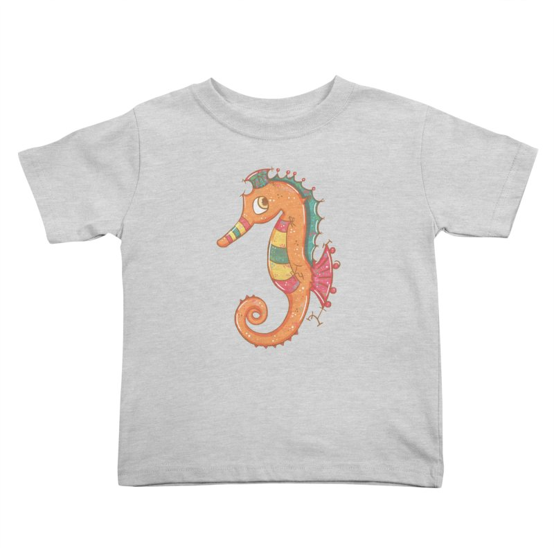 Sparkly Little Seahorse Kids Toddler T-Shirt by VanillaKirsty's Artist Shop