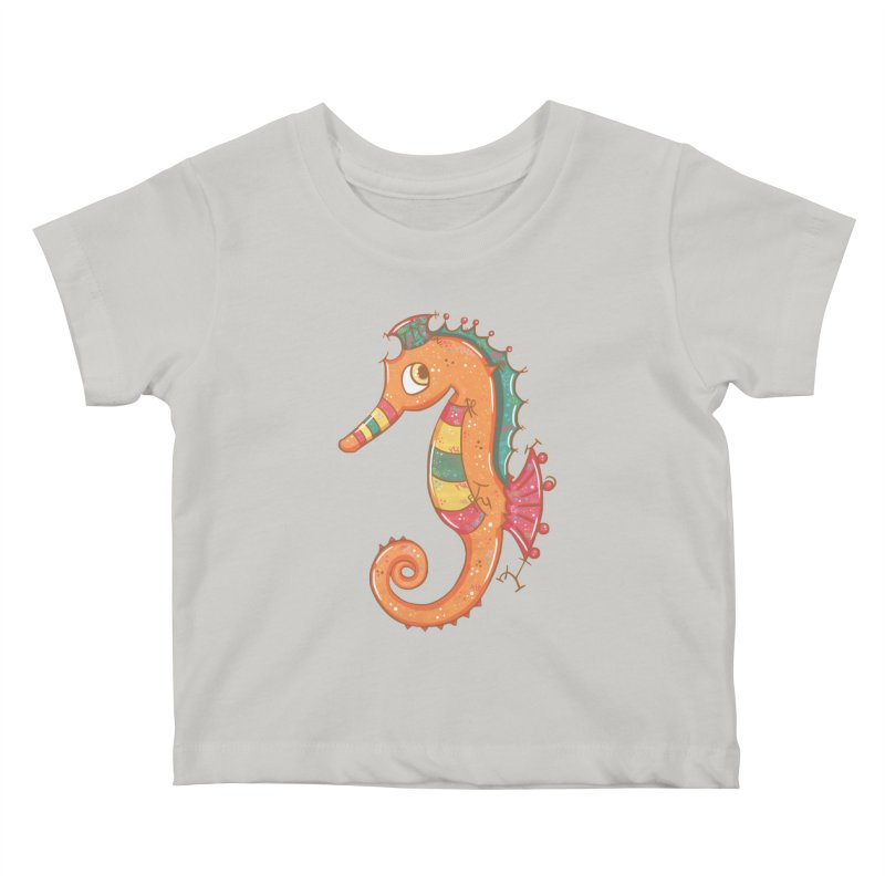 Sparkly Little Seahorse Kids Baby T-Shirt by VanillaKirsty's Artist Shop