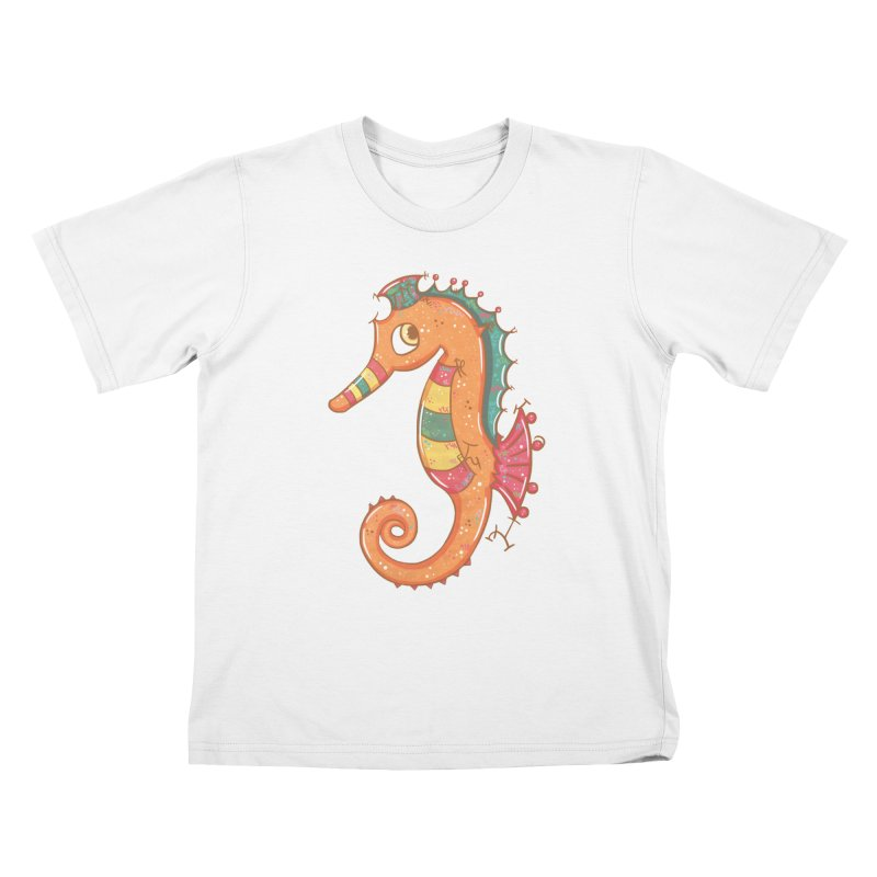 Sparkly Little Seahorse Kids T-shirt by VanillaKirsty's Artist Shop