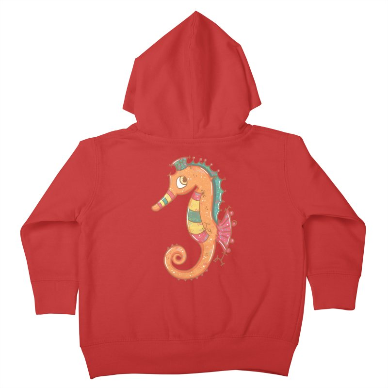 Sparkly Little Seahorse Kids Toddler Zip-Up Hoody by VanillaKirsty's Artist Shop